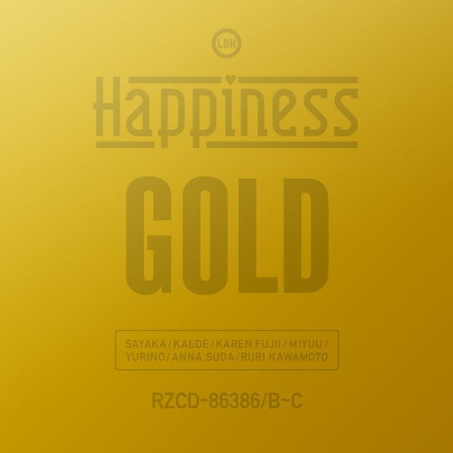 9/20(水)Release!! Happiness New Single 「GOLD」